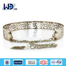 HOT fashion ladies gold metal belts