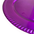 Purple Dinner Plastic Charger Plate