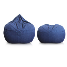 China Manufacturers for Pattern Bean Bags,Custom Bean Bag,Modern Bean Bag,Outdoor Bean Bag Manufacturer in China Dark Blue furniture beanbag seat export to Comoros Suppliers
