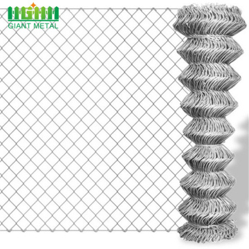 Hot Galvanized Used Chain Link Diamond Bentuk Pagar