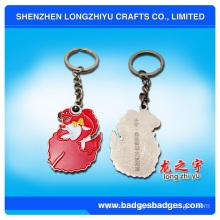 Cute Golden Fish Keychain Zinc Alloy Keychain for Souvenir