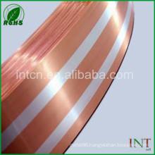 silver inlay copper metal strip