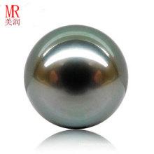 12mm Perles habillées noires authentiques de Tahiti