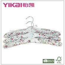 Nuevo estilo conjunto de 3pcs algodón acolchada percha para las mujeres