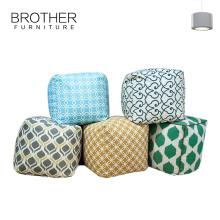 Pouf de pouf de meubles d'hôtel de mode chaise / pouf rond de pouf de tissu