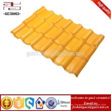 Teja de tejado de resina sintética de pizarra de alta resistencia a la intemperie de color amarillo