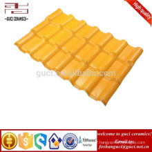 Extra High Weather Resistance Slate Synthetic Resin Roof Tile Yellow Color