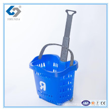 55Л Завальцовки пластичная Корзина для товаров с Телескопичными ручками для оптовой продажи