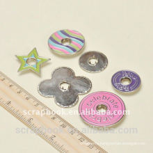 colorful metal snap buttons