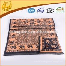 Bufandas árabes del mantón del Pashmina viscosa de encargo de la manera de la fábrica 100%, bufanda al por mayor del nombre del telar jacquar del elefante