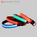 Nylon Led Safety Flashing Dog Collar