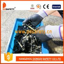 Nylon Schwarz Nitril Ultra Thin voll beschichtete Handschuhe mit Ce Dpu420