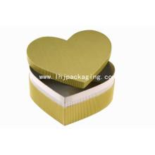 Nuevo diseño de forma de corazón Kraft Gift Packaging Box