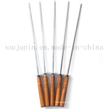 OEM High Quality Stainless Steel BBQ Skewer Stick Fork Tools