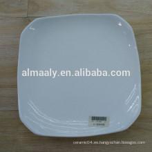 Estrella cuadrado placa de cerámica placa de alta blanco