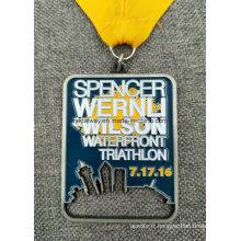 Médaille en laiton plaquée antique d'événement en laiton fait sur commande d'événement de sport