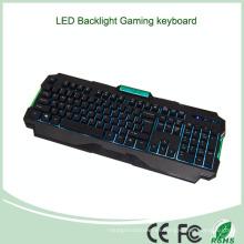 3 LED multicolor con retroiluminación Teclado de PC con ajuste de brillo (KB-1901EL-G)