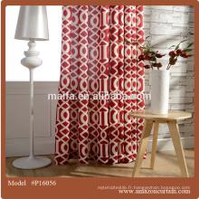 Largeur 280cm 100% style rideau en polyester salon