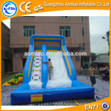 used commercial hippo inflatable water slide with pool for sale
