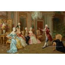 Arte da lona Figura pinturas a óleo para decorativo Home