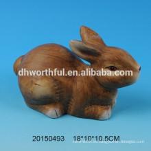 Decoración de cerámica de regalo de Pascua en forma de conejo