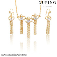 61230- Xuping Artificial beads jewelry set tassel display for bridal