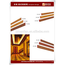 skirting board/wood decorative ceiling moulding/wooden ceiling design manufacturer