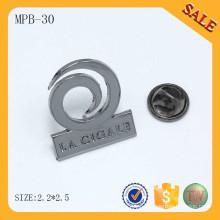MPB30 Diseño de moda insignia de logotipo personalizado insignia pin de seguridad