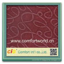 Mode nouveau design assez élégant polyester types de tissu matériau canapé