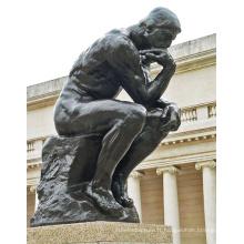 Statue de penseur en bronze BS2025L