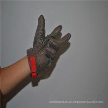 Hitzebeständige und schnittfeste Metzgerhandschuhe aus rostfreiem Stahl
