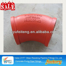 "r500 elbow for concrete pump KCP DN125 5.5"" concrete pump two wall elbow (wear resistant)for boom truckskype: francischen1010"