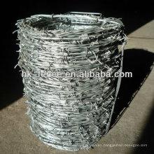 Venta caliente fabricación de alambre de púas precio por rollo para la venta
