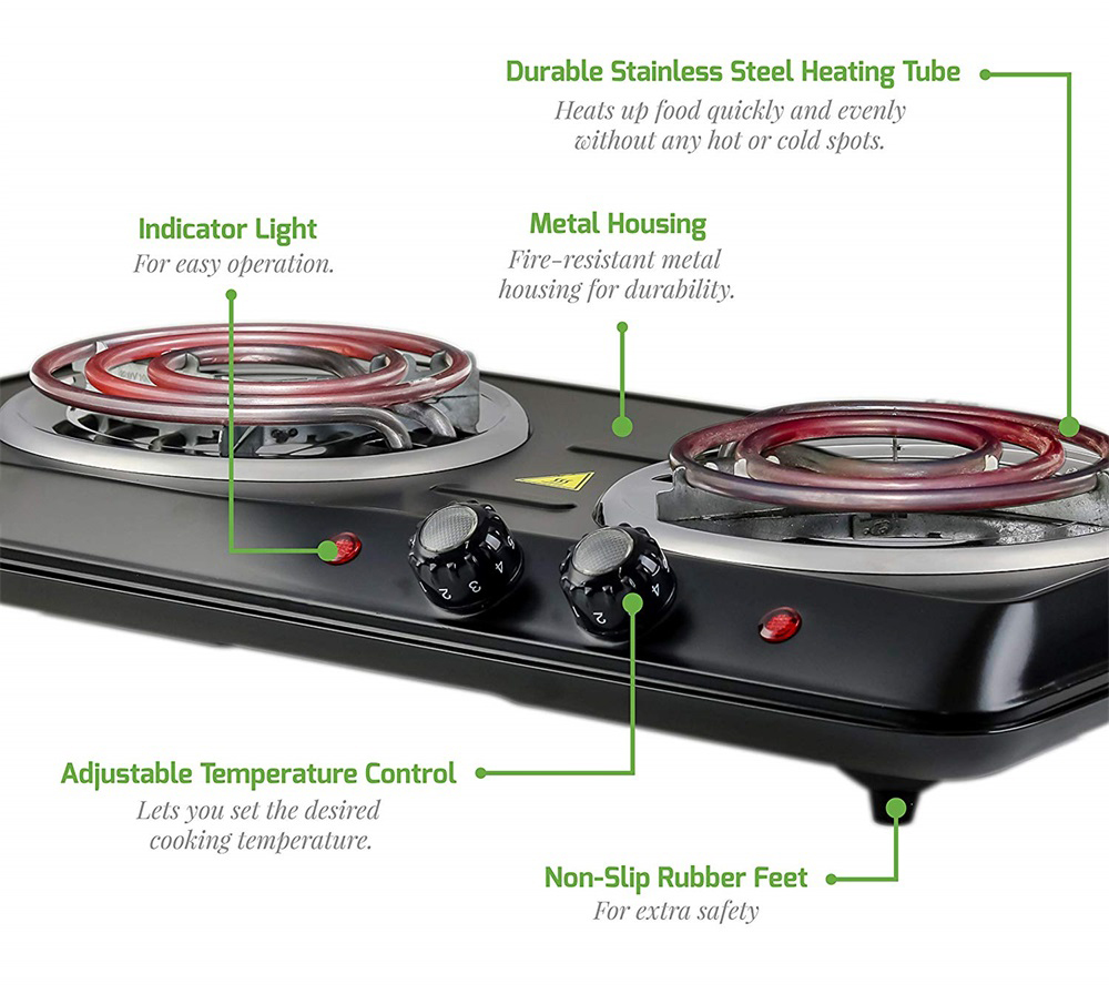 Countertop Electric Double Burner