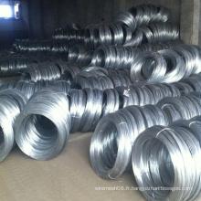 Fil d'acier galvanisé plongé chaud pour le matériel de construction