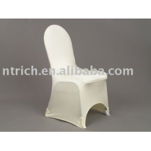Lycra/spandex chair cover, white hotel/banquet/party chair cover