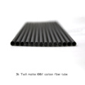 15*12*1000mm Carbon Fiber Tubes Matte Finish