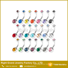 G23 titanium press fit crystal craft navel belly button ring