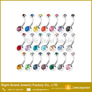 G23 titânio imprensa ajuste cristal ofício umbigo umbigo anel