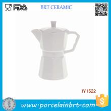 Pote de café inovador em porcelana branca separável