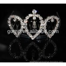 fashion new design diamond tiara combs