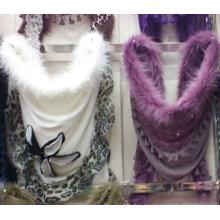 La plus ancienne écharpe d'hiver de mode 2016 avec décoration de fourrure