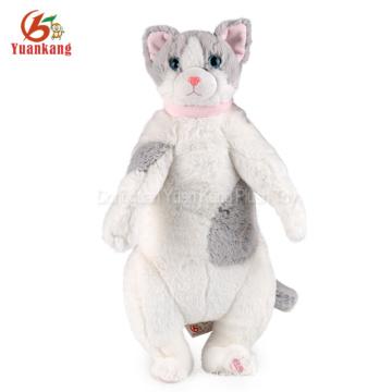ICTI 30cm peluche felpa gato de la pierna larga de felpa de peluche de juguete realista