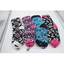 new arrival winter knitting wool fuzzy warm socks indoor home socks anti-slip for wholesale