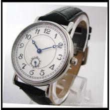 Mejor calidad de cuero genuino reloj de cuarzo par