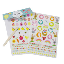 cute kids custom stickers with stick