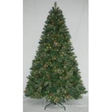 Realista Artificial Árvore de Natal com String Light Multi Color LED Decoration (AT1002)