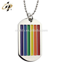 WenZhou ShuangHua custom 2d metal enamel dog tag with chain