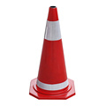 70cm orange rubber road traffic safety cones