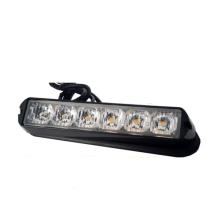 DC10-30V LED policía luz estroboscópica 6W, mini luz estroboscópica de advertencia para la policía